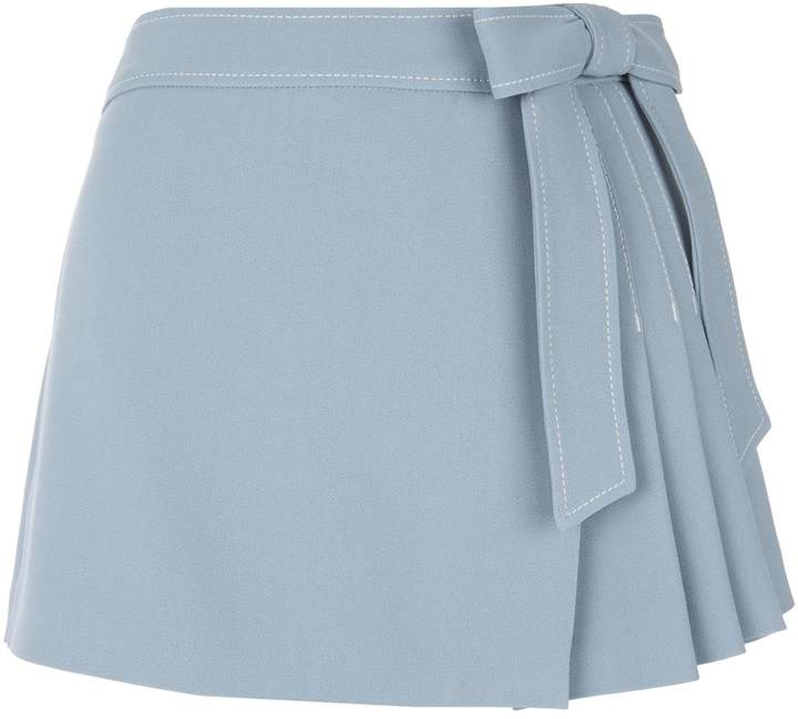 RED Valentino Pleated Bow Skort