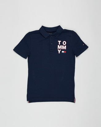 Tommy Hilfiger Graphic Short Sleeve Polo - Teens