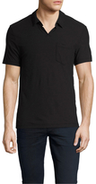 James Perse Cotton Jersey Short Sleeve Polo