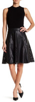 Tart Tulsi Faux Leather Lasercut Skirt