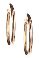 Candela 14K Yellow Gold 25mm Polished Hoop Earrings