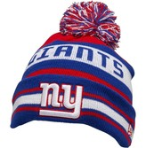 New Era NFL New York Giants Striped Knitted Bobble Hat Blue/Red