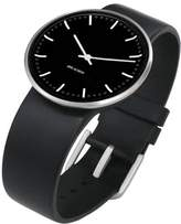 Rosendahl Arne Jacobsen City Hall Unisex Watch 43457 with Black Dial and Black Calf Skin Strap (Large)