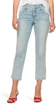 Sanctuary Modern Standard High Waist Crop Straight Leg Jeans