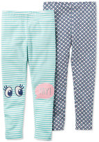 Carter's 2-Pack Printed Leggings, Little Girls (4-6X) and Big Girls (7-16)