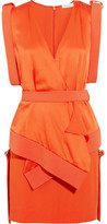 Thierry Mugler Cady And Satin Mini Dress - Orange