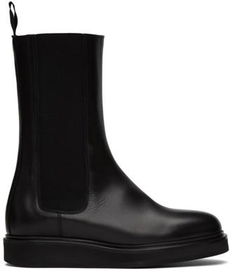 LEGRES Black Mid-Calf Chelsea Boots