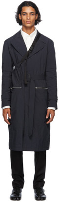 Maison Margiela Black Recycled Packable Trench Coat