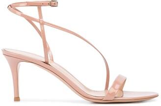 Gianvito Rossi Strappy Asymmetric Sandals