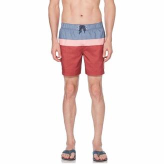 Original Penguin Stripe Block Swim Short