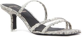 Black Suede Studio Felicity Calfskin Strappy Slide Sandals