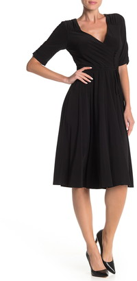 Gabby Skye Ruched Button Front Dress