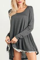 Umgee USA Babydoll Knit Lace