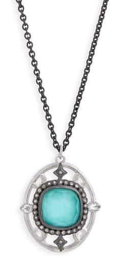 Armenta New World Crivelli Oval Drop Pendant Necklace