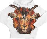 Marcelo Burlon County of Milan Lion Printed Hooded Cotton Sweatshirt
