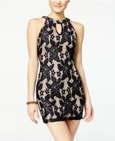 Speechless Juniors' Lace Keyhole Bodycon Dress