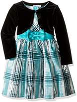 Bonnie Jean Girls' Taffeta Plaid Cardigan Dress