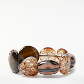 John Lewis Crackle Bead Stretch Bracelet, Multi