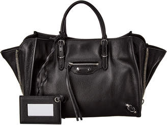 Balenciaga Papier A6 Zip Around Leather Tote