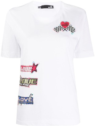 Love Moschino sticker-print T-shirt