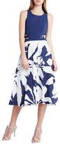 BCBGeneration Printed Cutout Dress