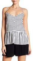 Cupcakes And Cashmere Emmanuel Striped Tank Top
