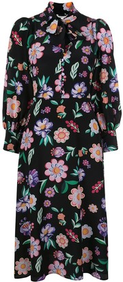 Olivia Rubin Floral Silk Shirt Dress