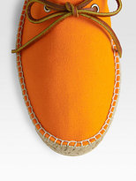 Ralph Lauren Canvas/Leather Belvi Espadrilles