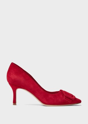 Hobbs Alison Suede Stiletto Court Shoes