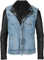 Rta - denim layered jacket - men - Calf Leather - M