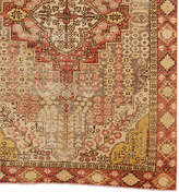 Rejuvenation Avanos Turkish Rug in Muted Red & Yellow