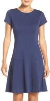 Ellen Tracy Women's Drop Waist Ponte Dress