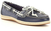 Sperry Firefish Leather & Denim Textile Slip-On Boat Shoes