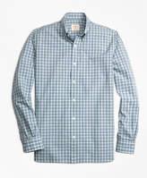Brooks Brothers Mini Checkered Broadcloth Sport Shirt