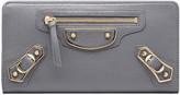 Balenciaga Classic Metallic Edge Continental Zip Around