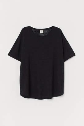 H&M Wide-cut T-shirt - Black