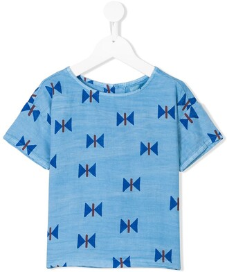 Bobo Choses chambray printed T-shirt