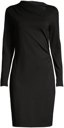 Elie Tahari Mozelle Asymmetric Double-Knit Dress