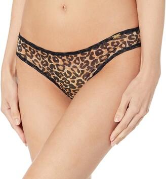 Gossard 13106 Women's Glossies Leopard Animal Print Brown Thong XLarge