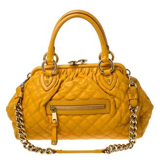 Marc Jacobs Stam Yellow Leather Handbags