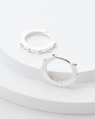 Estella Bartlett Granulated Huggie Earrings