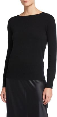 Neiman Marcus Cashmere Bateau-Neck Sweater