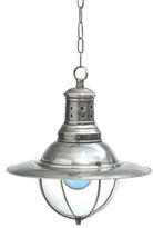 The Well Appointed House Vintage Style Factory Light with Glass Dome