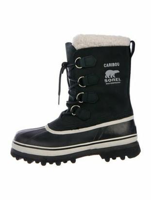 Sorel Nubuck Lace-Up Boots Black