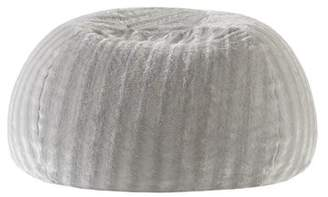 Mercury Row Stengel Faux Fur Shaggy Bean Bag Chair Mercury Row Upholstery: Gray