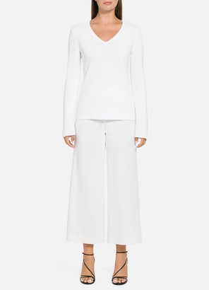 St. John Luxe Links Texture V-Neck Sweater