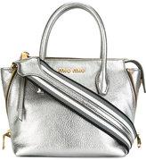 Miu Miu small logo tote bag - women - Calf Leather - One Size