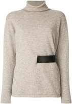 Tom Ford belted jumper - women - Lamb Skin/Cashmere - XS