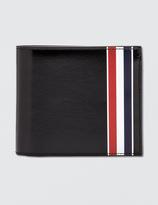 Thom Browne Calf Leather Billfold Wallet with RWB Printed Stripe