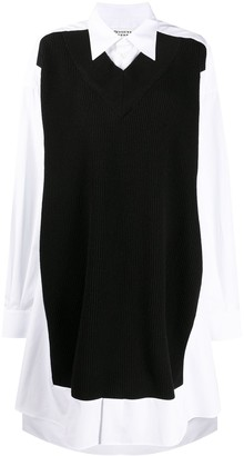 Maison Margiela Jumper-Effect Shirt Dress